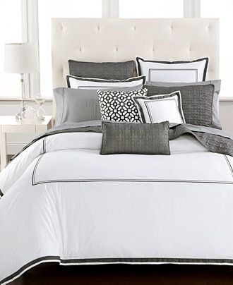 Hotel Collection Embroidered Frame Bedding Collection, Only at Macy's - Hotel Collection Bedding - Bed & Bath - Macy's
