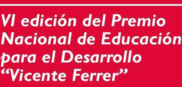 VI Premio Nacional de Educación para el Desarrlllo Vicente Ferrer
