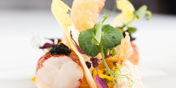 A delicious sous vide lobster salad recipe from chef Mark Jordan, complete with crispy tempura claws.