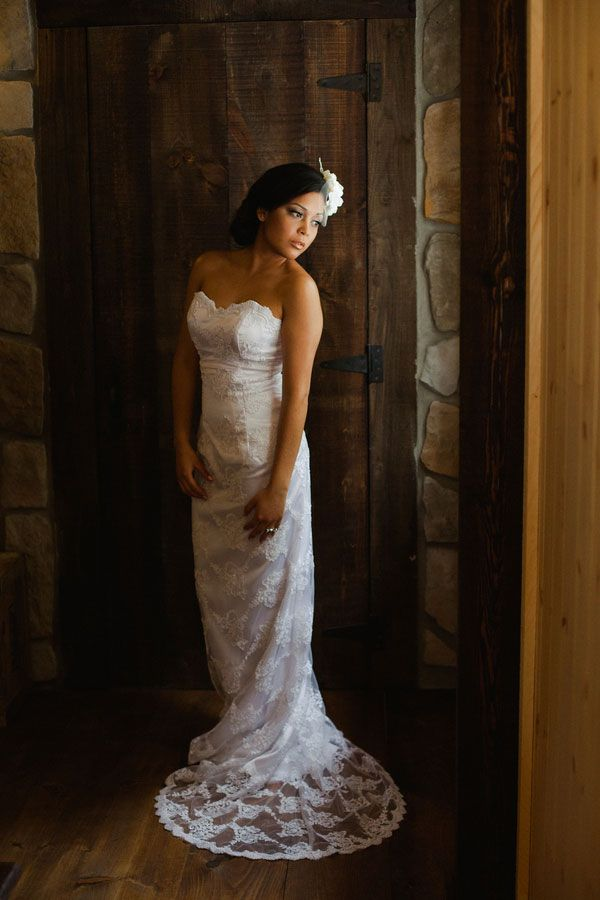 Fitted Lace Wedding Dress With Petite Train