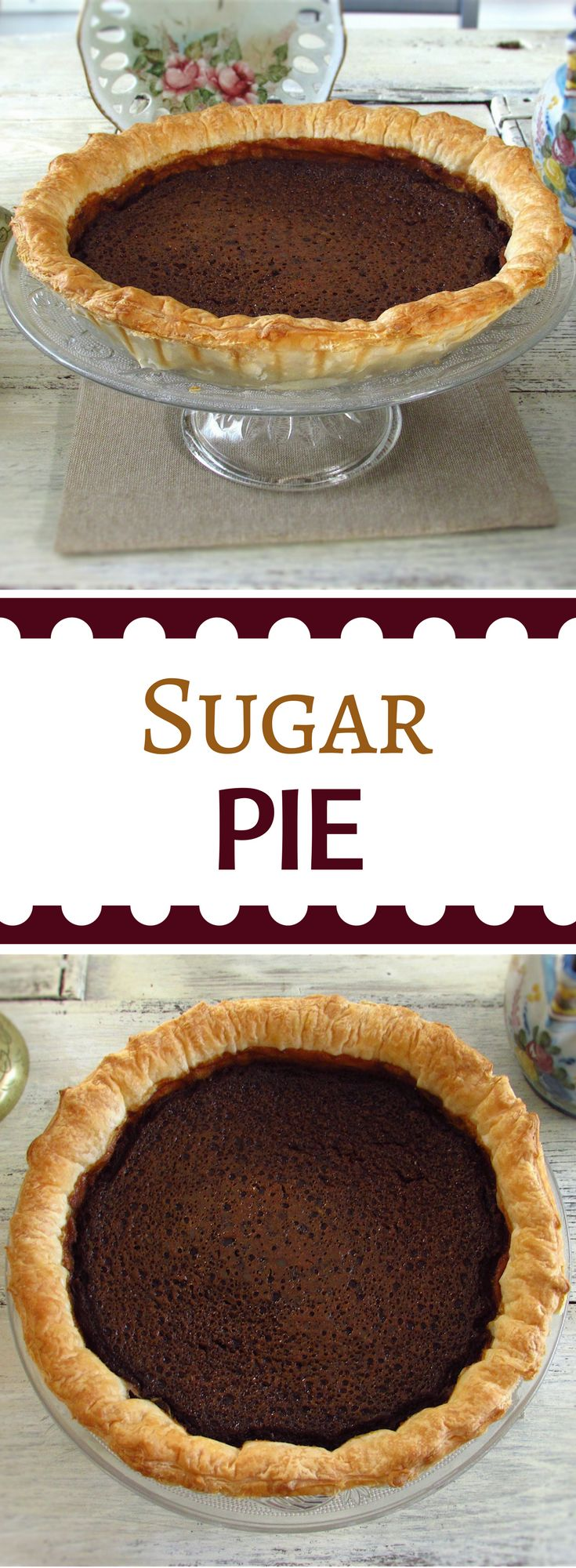Sugar pie | Food From Portugal. An ideal dessert for a winter dinner with the special flavor of brown sugar. Add a scoop of vanilla ice cream… Mouth-watering… #recipe #pie #sugar