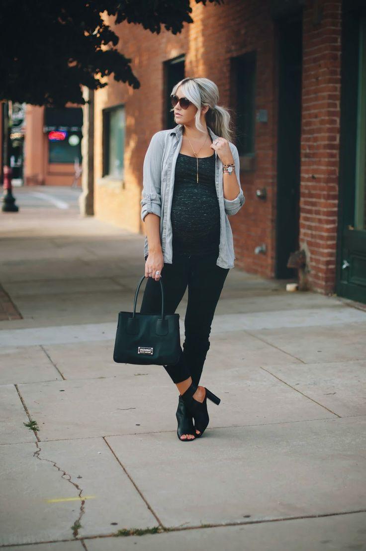 tank, pants, button up: Wendy Bellissimo via Destination Maternity shoes: Jeffrey Campbell bag: Valetino via Nordstrom Rack necklace: c/o SLDesign bracelet: c/o Melissa Lovy ring: c/o Melissa Lovy, SLDesign