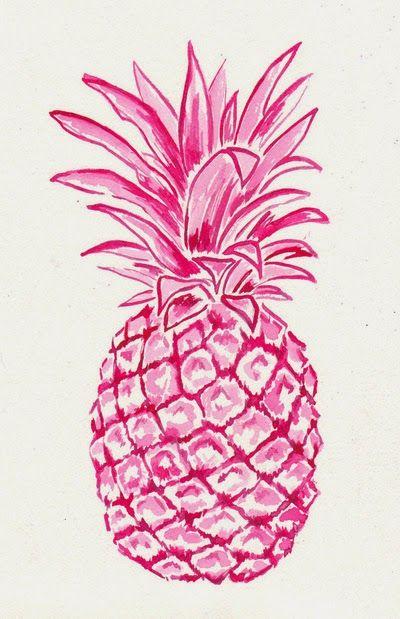 Fond d 39 cran ananas dessin rose iphone fond cran girly for Fond ecran ananas