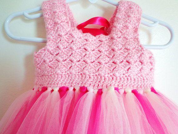 Infant toddler Girls Crochet top Tutu Dress: Corset tie back pageant dress boutique dress 6M, 12M, 24M 3T 4T 5T on Etsy, $46.00