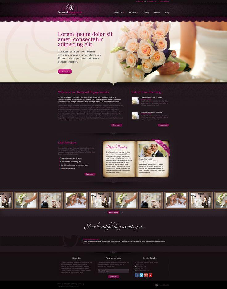Web Design: Diamond Engagements by VictoryDesign.deviantart.com on @DeviantArt
