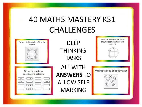 40 KS1 MATHS MASTERY CHALLENGES