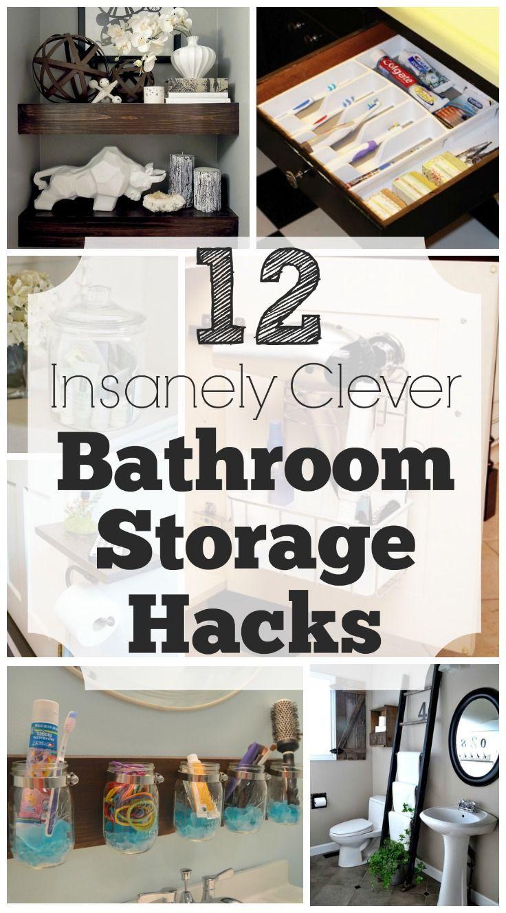 Best 25 Clever Bathroom Storage Ideas On Pinterest