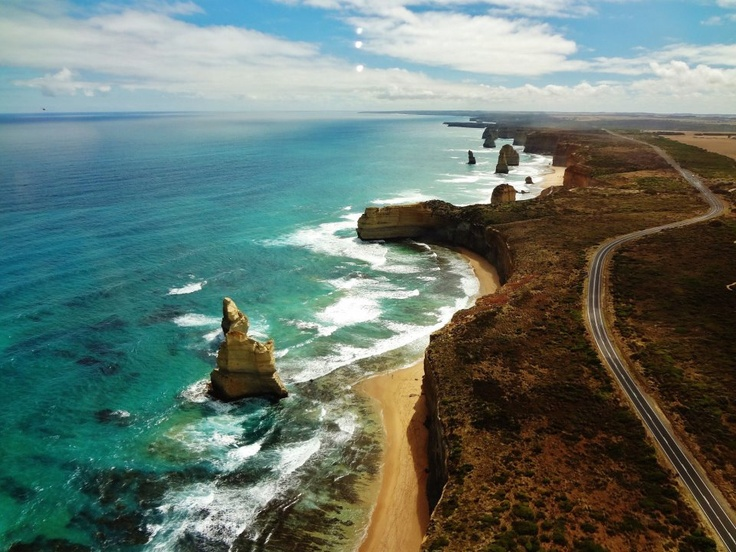 Great Ocean Road - Stretching from Geelong to Portland in south-western Victoria, this landscape includes rugged cliffs, tangled forests and secluded beaches.
