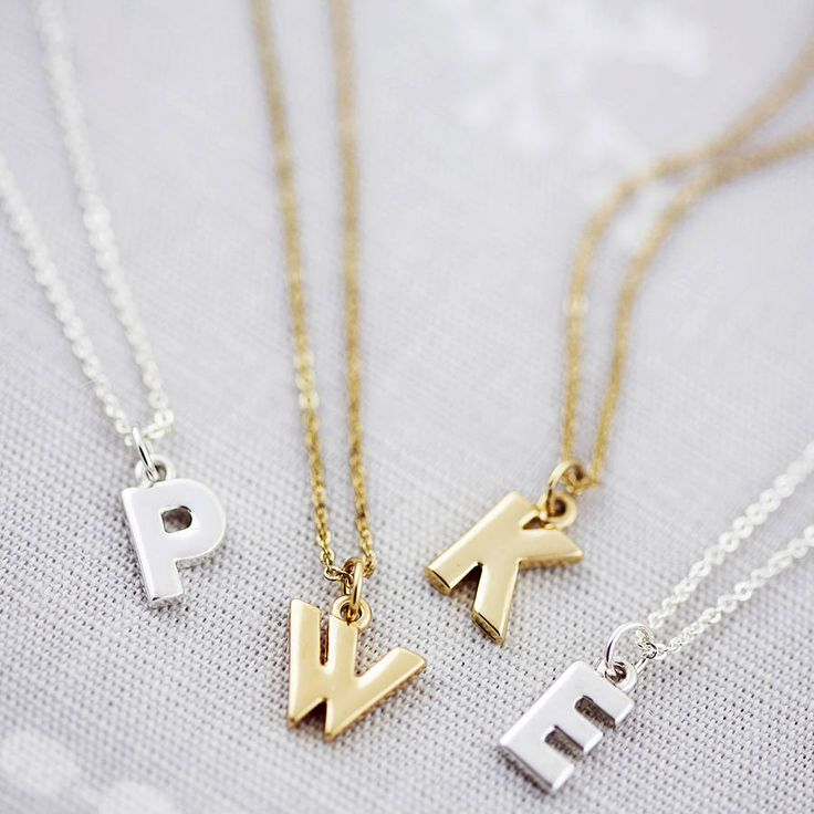 8 best necklace images on pinterest custom necklaces personalised necklace rose gold personalised chunky letter necklace by j s jewellery notonthehighstreet aloadofball Choice Image