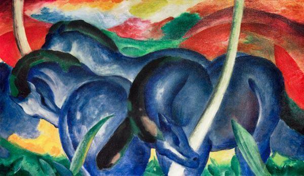 Franz Marc - Grandes caballos azules