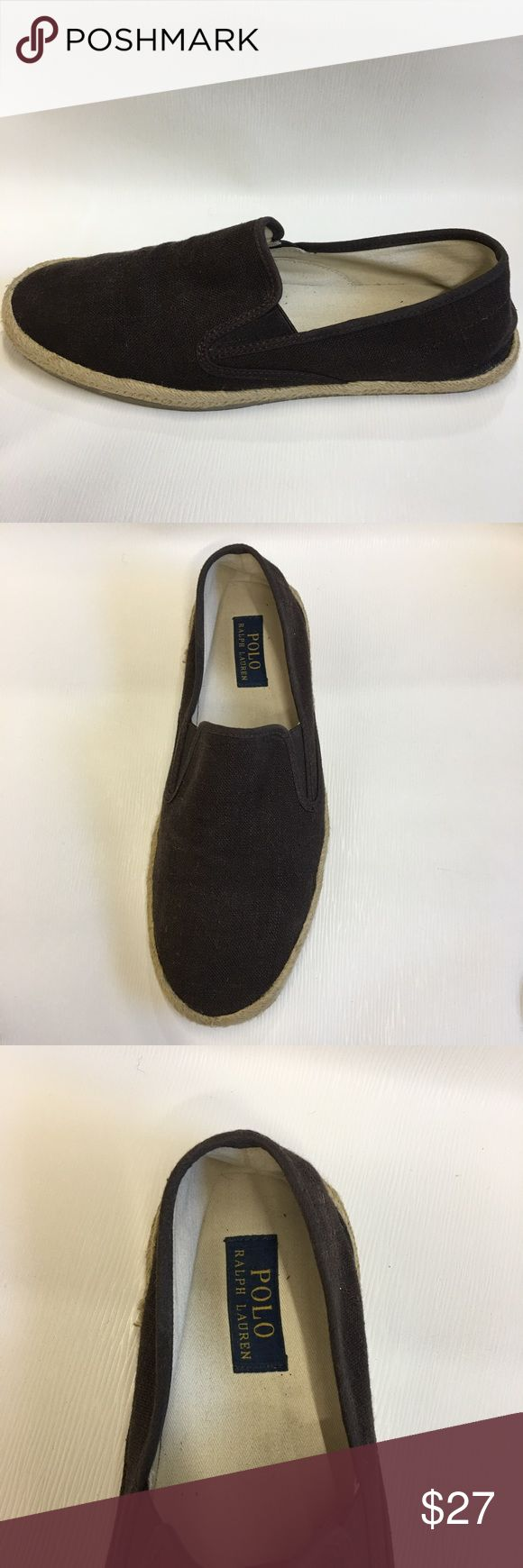 Polo Ralph Lauren brown spadrilles size 10D shoes are in excellent used condition. Polo by Ralph Lauren Shoes