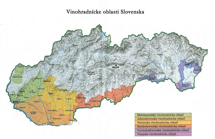 Slovak wine regions.