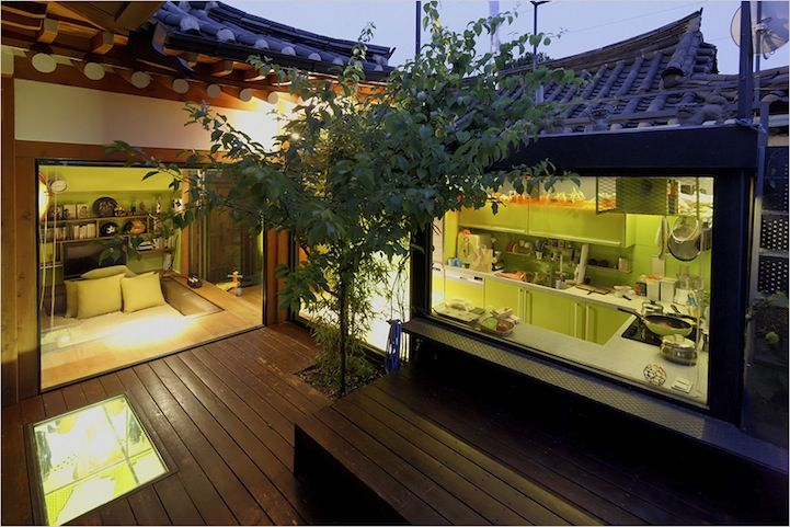 traditional korean house hanok with a modern twist <3