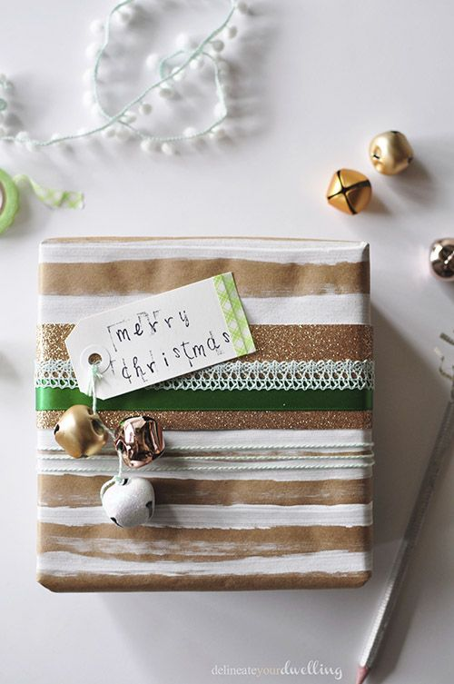 How to wrap your gifts in brown paper packages for Christmas!