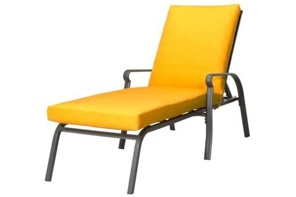 Description Specs Stretch out and take advantage of the beautiful weather with the Threshold Hawthorne Metal Chaise Lounge. The powder-coated frame is made from