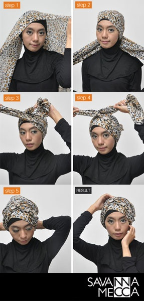 Tutorial Hijab : Turban Style #SavannaMecca