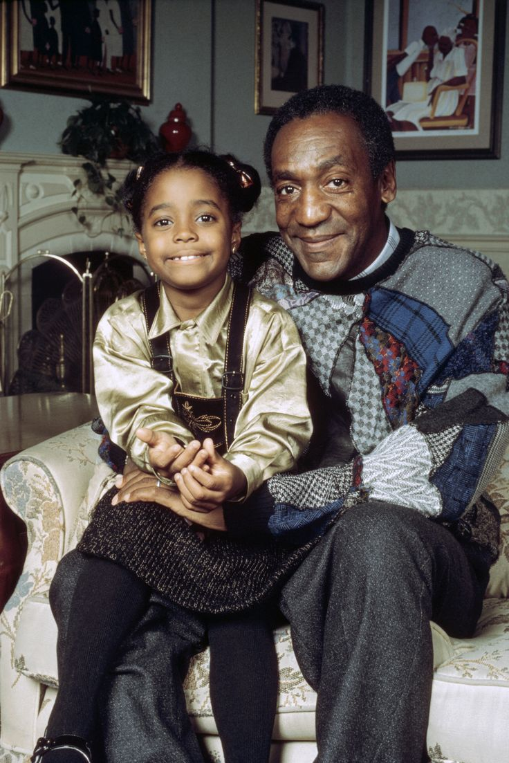 Bill cosby family photos - Keshia Knight Pulliam As Rudy Huxtable And Bill Cosby As Dr Heathcliff Cliff