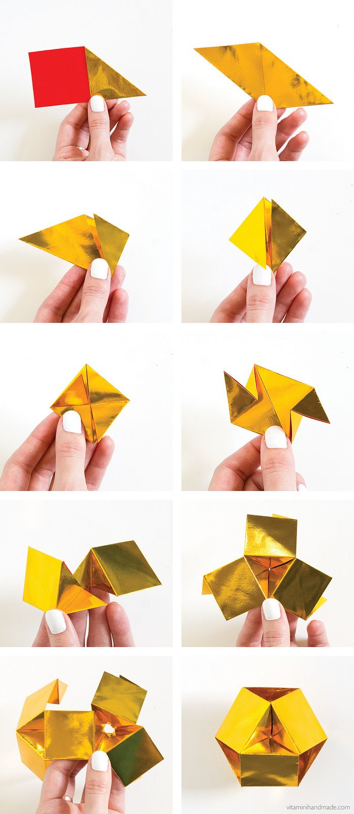 DIY Origami Gemstone | click through for the tutorial!