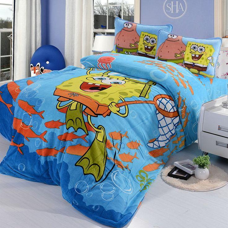 Spongebob Sky Blue Style4 Kids Bedding Duvet Cover Set