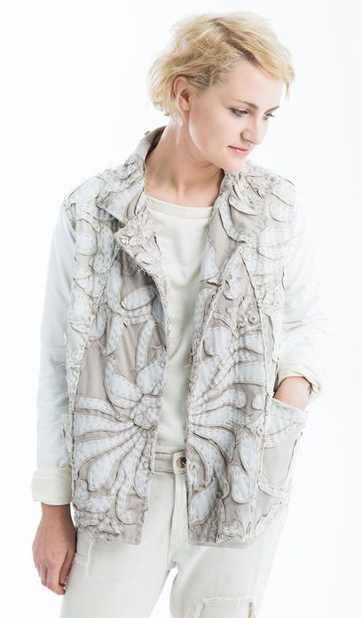 Ivory Jacket //Alabama Chanin