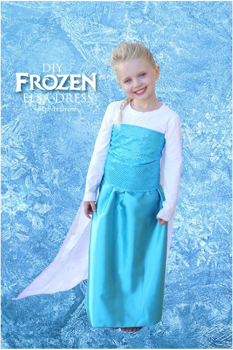 DIY Elsa Dress from Frozen. Make it with these instructions!