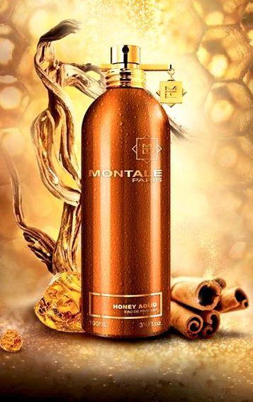 Honey Aoud MONTALE to miodowy deser, któremu nie sposób się oprzeć.  Skład: miód, oud z Laosu, kwiaty, paczula z Sumatry, cynamon, skóra, ambra, wanilia z Madagaskaru. Rodzina zapachowa: orientalna łagodna #montale