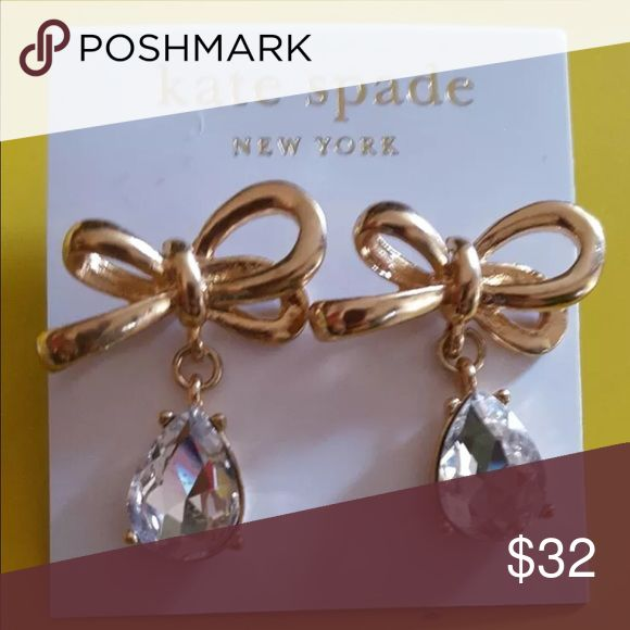 NWT Kate Spade Crystal Drop Earrings More pics to Follow - Just wanted to add before party ends. Beautiful Kate Spade earrings with a hint of shine but still cute enough for every day wear! Come with Kate Spade dust bag! kate spade Jewelry Earrings