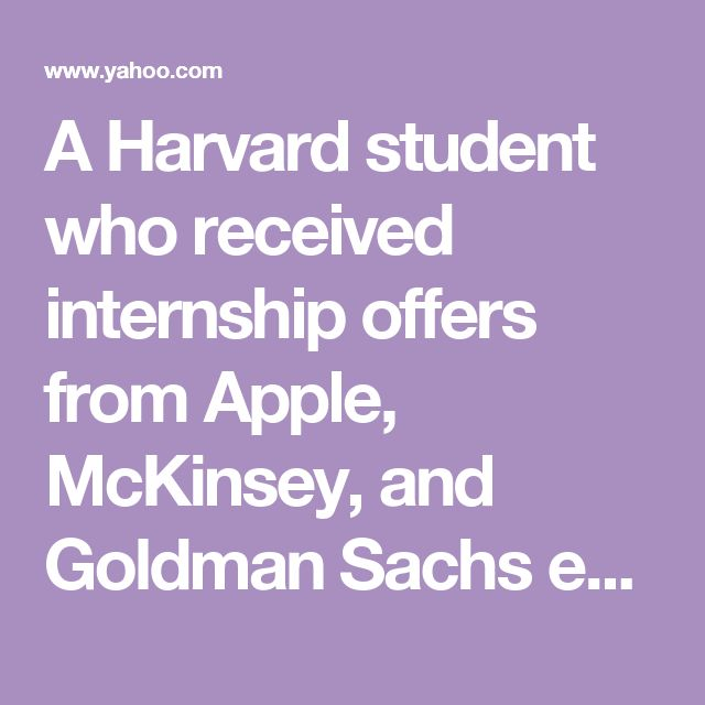 A Harvard student who received internship offers from Apple, McKinsey, and Goldman Sachs explains how to answer 'Tell me about yourself'
