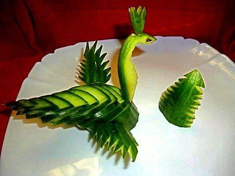 Украшения из яблока и апельсина. Как красиво оформить стол. Decorations of fruits - YouTube