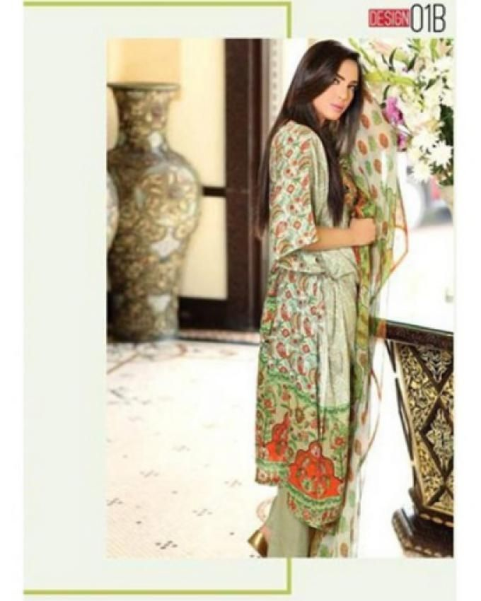 Libas Embroidered Unstitched 3 Piece #LawnCollection Suit 1B in Multicolor #SayNoToReplicas
