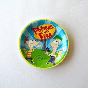 Platos Pasteleros Phineas y Ferb - Artículos de Fiesta