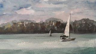 pincel drawing sail boats - YouTube