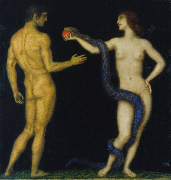 iopanosiris: Franz von Stuck, Adam and Eve. 1920-28