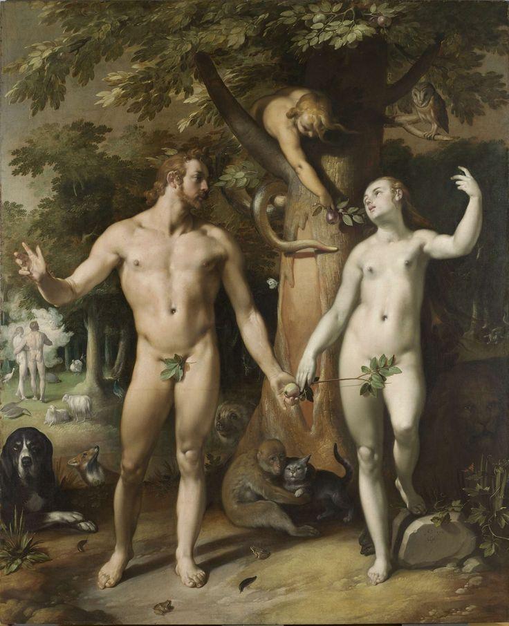 Adam and Eve had a dog! De zondeval, Cornelis Cornelisz. van Haarlem, 1592