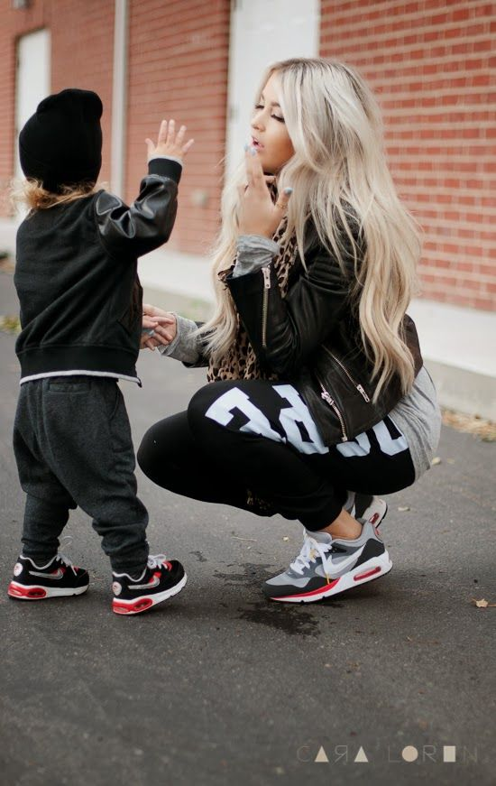 CARA LOREN matching air max YES PLEASE! ...  I am soooo doin this when my baby can wear some Nikes i CANNOT WAIT