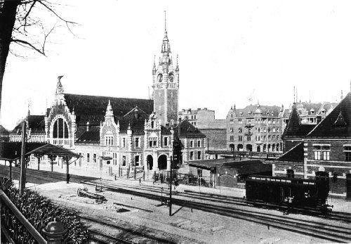 Central Railway Station, ca. 1905 / Dworzec Główny w roku 1905.