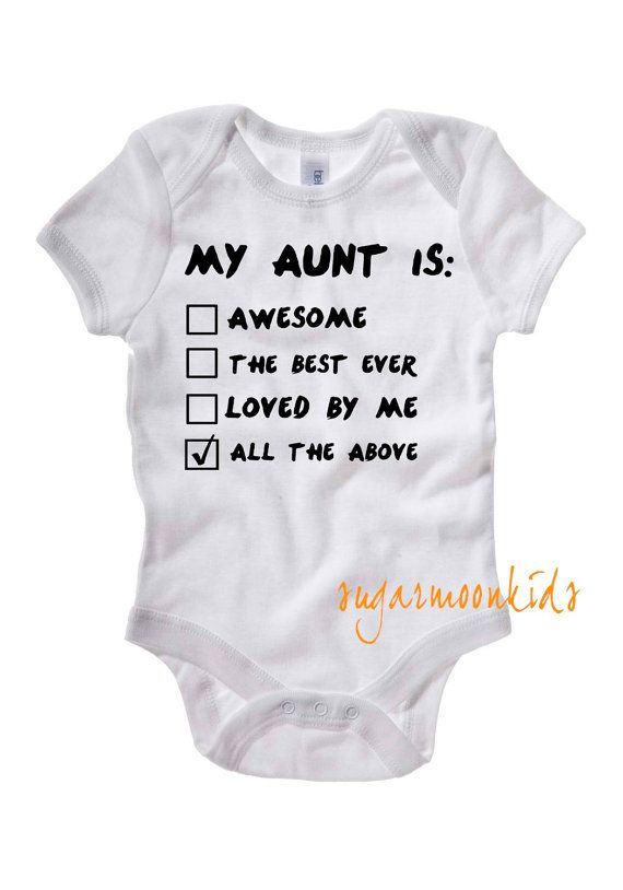 My Aunt is Baby One Piece by sugarmoonkids on Etsy