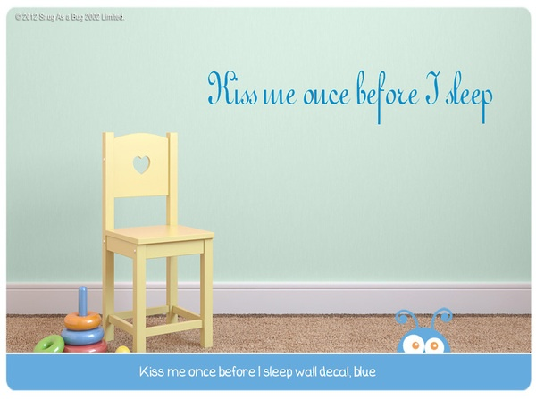 kiss me, wall decal quote