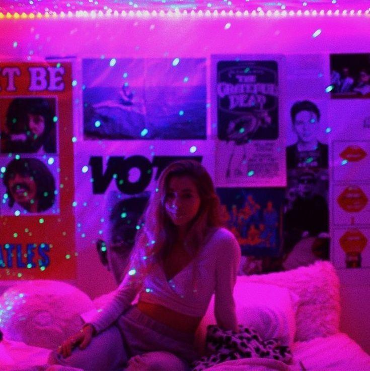 Led Lights Bedroom Aesthetic Vsco In 2020 Neon Room Neon Bedroom Grunge Room