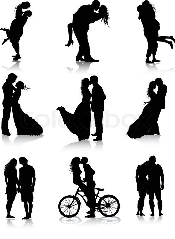 Stock vector ✓ 11 M images ✓ High quality images for web & print | Romantic couples silhouettes