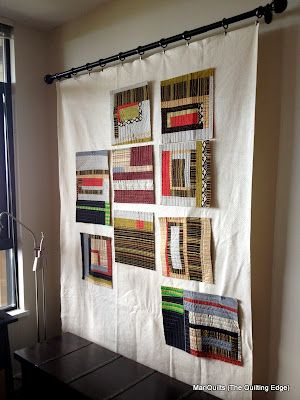 The Quilting Edge: Floppy Design Wall....Hang batting from curtain rod! Floppy, but easy access. When company comes, change out for a finished quilt!