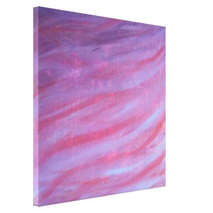 Adaptable Art | Original Pink Purple Zebra Stripe Canvas Print - glam gifts unique diy special glamour