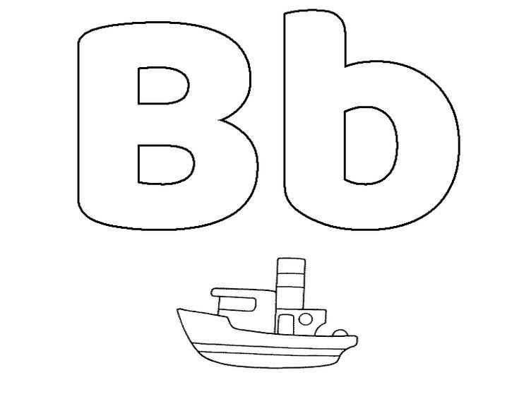 Dibujos para Colorear Letras Online | Letra b, Letras ...