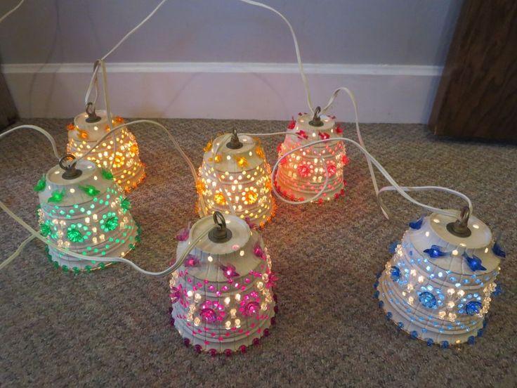 Vintage Lawnware Type Pot Camper Rv Patio Lights String Set