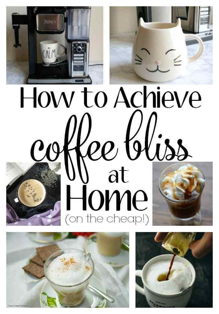 How to Achieve Coffee Bliss at Home. I am SO guilty of spending way too much money at Starbucks. Thankfully, the lovely peeps at Ninja sent me the Ninja Coffee Bar and now I am whipping up swoon-worthy drinks that would make a barista green with envy. Beats spending $10 a day on lattes!! These recipes will get you started but the possibilities are endless. AD