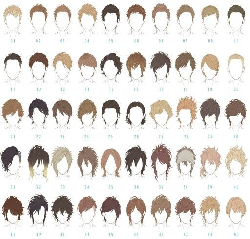 Anime hair for males