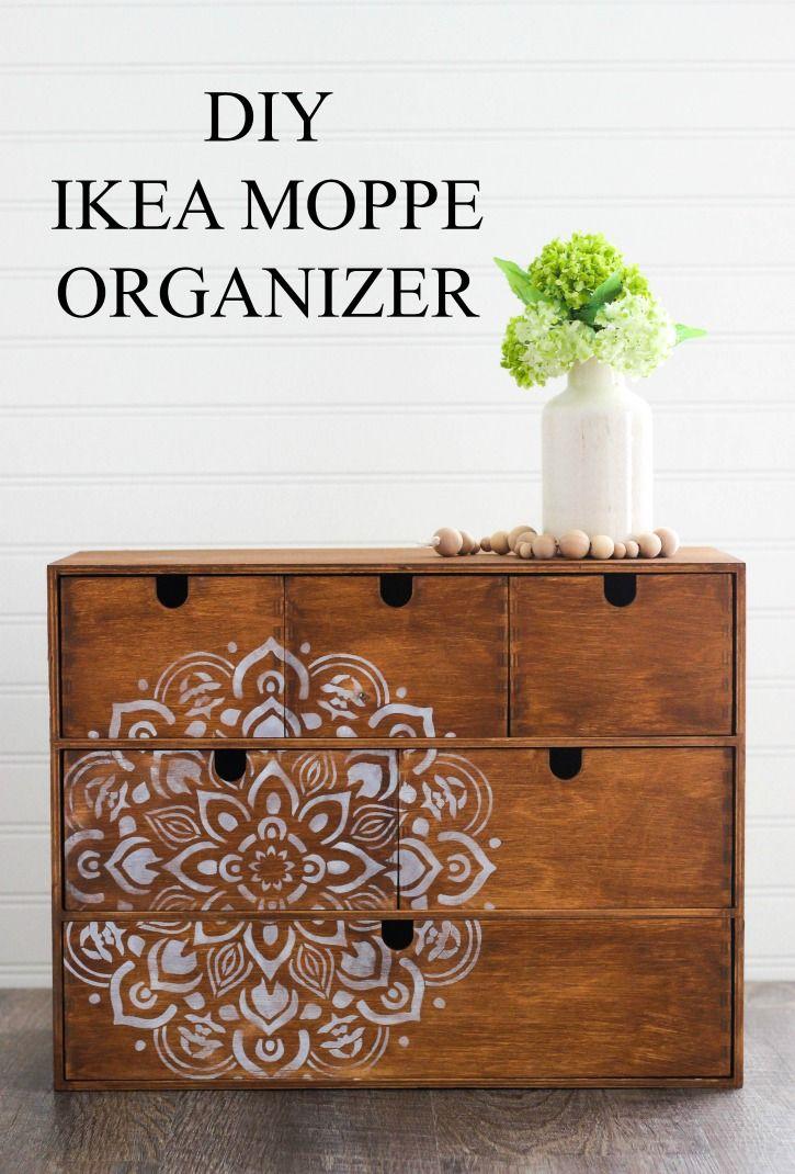 DecoArt Blog - Crafts - DIY IKEA Moppe Organizer