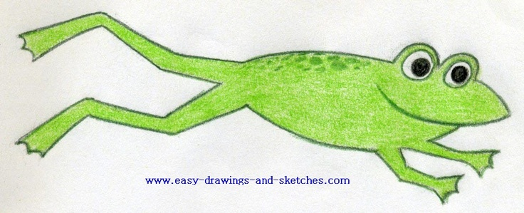 how to draw a jumping frog