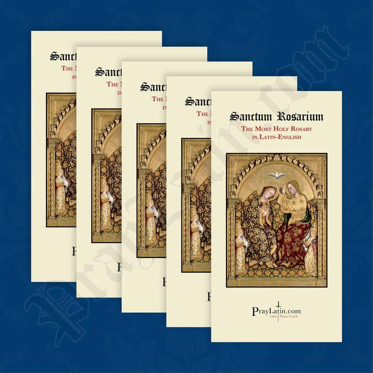 LatinEnglish Rosary Pamphlet in 2020 Rosary, Fatima