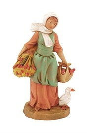 Hannah With Wheat Christmas Nativity Village Figurine